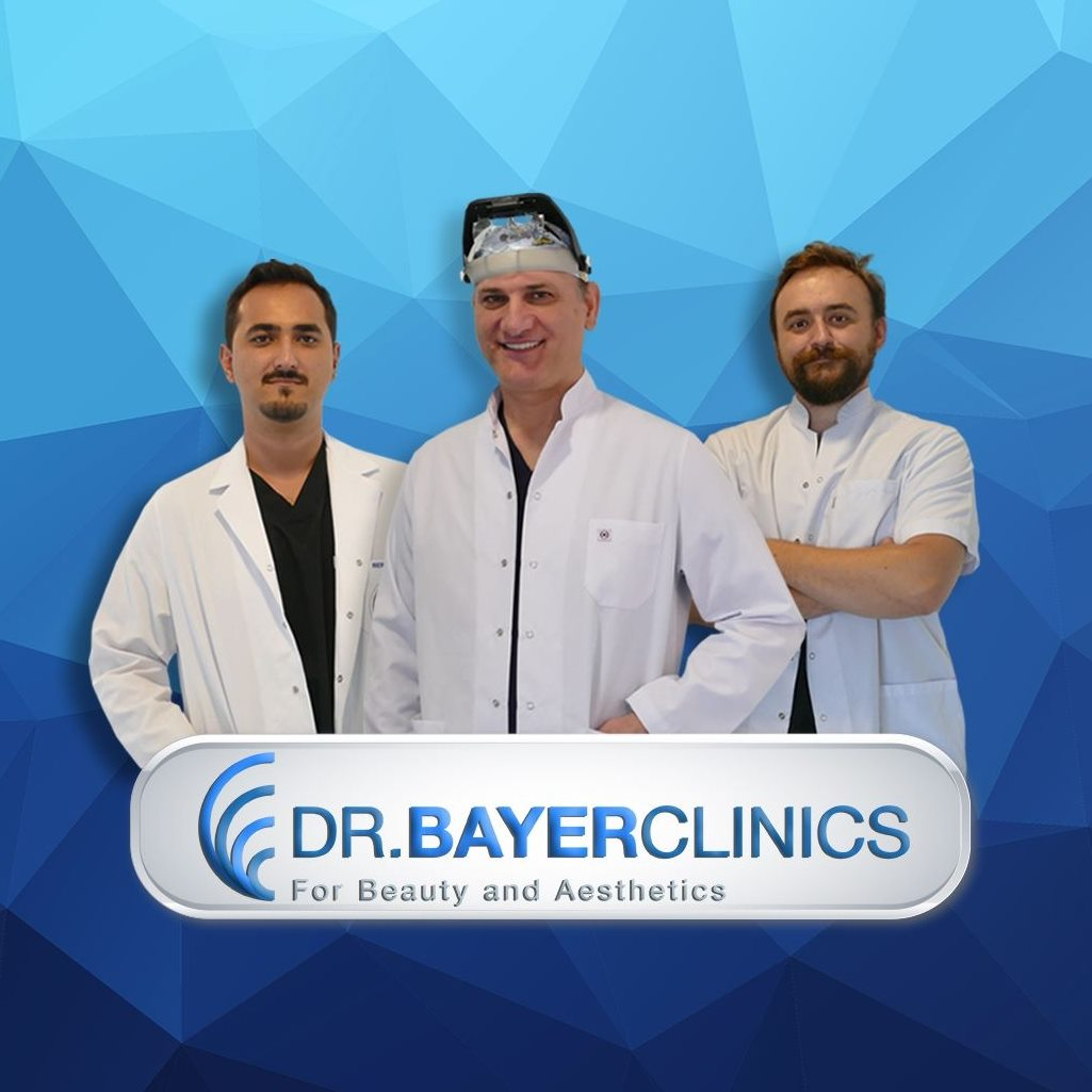 Dr. Yetkin Bayer and his crew in his clinics inn Istanbul Clinic